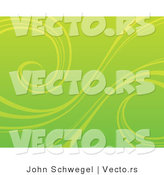 Vector of an Organic Green Background with Curling Vines by John Schwegel