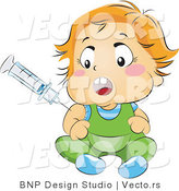 Vector of Baby Being Vaccinated by BNP Design Studio