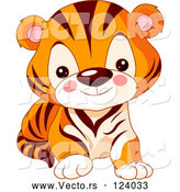 Vector of Baby Zoo Tiger Cub by Pushkin