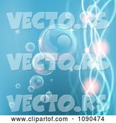 Vector of Background of Bubbles in Water with Waves and Orbs by AtStockIllustration