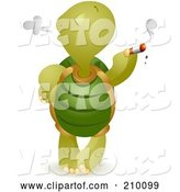 Vector of Bad Tortoise Smoking a Cigarette by BNP Design Studio