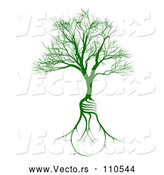 Vector of Bare Tree with Light Bulb Shaped Roots by AtStockIllustration