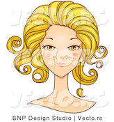 Vector of Beautiful Leo Girl's Face by BNP Design Studio