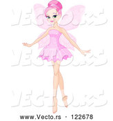 Vector of Beautiful Pink Haired Ballerina Fairy by Pushkin