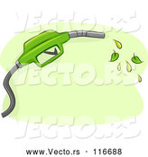Vector of Biofuel Gas Nozzle with Leaves by BNP Design Studio