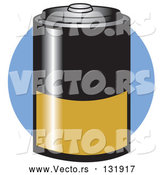 Vector of Black and Gold D Battery by Andy Nortnik