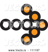 Vector of Black and Orange Arrow App Icon Button Design Element by ColorMagic