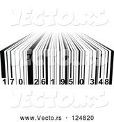 March 24th, 2018: Vector of Black and White 3d Bar Code by Andrei Marincas