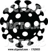 Vector of Black and White Coronavirus by Cidepix