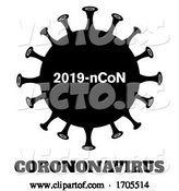 Vector of Black and White Coronavirus by Hit Toon