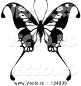 Vector of Black and White Flying Butterfly Logo - 11 by Dero