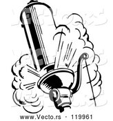 Vector of Black and White Retro Steam Whistle by BestVector