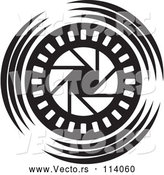 Vector of Black and White Shutter Icon by Lal Perera