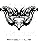 Vector of Black and White Tribal Motorcycle Biker Handlebars by Vector Tradition SM
