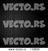 Vector of Black Background with a Panel of Metal Mesh and Text Space by Elaineitalia