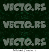 Vector of Black Background with Green Leaves and Vines by MilsiArt