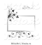 Vector of Black Floral Frames and Borders - Digital Collage by MilsiArt