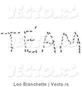 Vector of Black Worker Ants Working Together to Outline the Word TEAM by Leo Blanchette