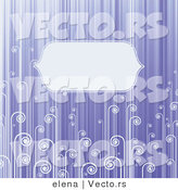 Vector of Blank Copyspace Background with Violet Stripes and Swirls by Elena