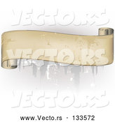 Vector of Blank Scroll Banner with Grunge Effect by Leo Blanchette