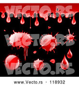 Vector of Blood Drips and Splatters by TA Images