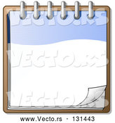 Vector of Blue and White Spiral Notebook Organizer Ready for Notes by Leo Blanchette