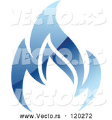 Vector of Blue Flame Natural Gas Logo by Vector Tradition SM
