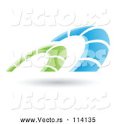 Vector of Blue Green Arches over Shadow by Cidepix