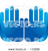 Vector of Blue Hands by Lal Perera