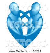 Vector of Blue Heart by AtStockIllustration