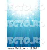 Vector of Blue Magic Background with Rays and Sparkles by Dero