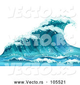 Vector of Blue Ocean Wave by Graphics RF