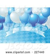 Vector of Blue Oktoberfest Background of a Diamond Pattern, Balloons and a Blank Banner - 2 by Pushkin