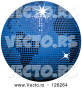 Vector of Blue Sparkly Disco Ball Globe by Elaineitalia