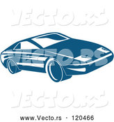 Vector of Blue Sports Car by Patrimonio