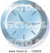 Vector of Blue Wall Clock by AtStockIllustration