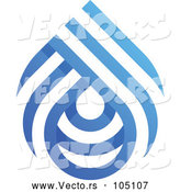 Vector of Blue White Water Drop by Elena
