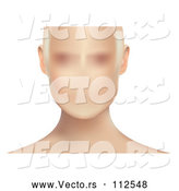 Vector of Blurred Anonymous White Lady's Face, on White by Vectorace