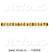 Vector of Border of Black and Orange Diamonds Clipart Illustration by Andy Nortnik