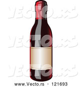 Vector of Bottle of Red Wine by Leo Blanchette