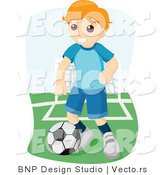 Vector of Boy Playing Game of Soccer by BNP Design Studio