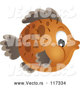 Vector of Brown Blowfish by Visekart