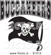 Vector of BUCCANEERS Pirate Flag - Sports Team Art by Johnny Sajem