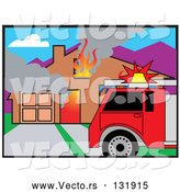 Vector of Burning House by Andy Nortnik