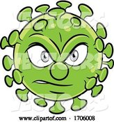 Vector of Cartoon Angry Coronavirus Mascot by Cidepix