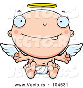 Vector of Cartoon Baby Infant Angel by Cory Thoman