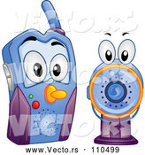 Vector of Cartoon Baby Video Monitor by BNP Design Studio