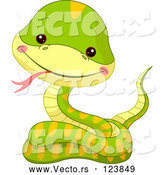 Vector of Cartoon Baby Zoo Snake by Pushkin