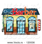 Vector of Cartoon Barber Shop by Graphics RF