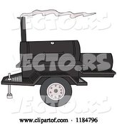 Vector of Cartoon Bbq Grill with Smoke by LaffToon